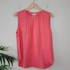 L'Agence | Coral Silk Sleeveless Blouse